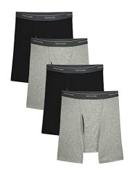 Fruit of the Loom Men's CoolZone Boxer Briefs, Black/Gray, Large