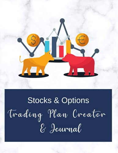Stocks & Options Trading Plan Creator & Journal, Trader Journal for Stock Market, Stock Trading Notebook, Options Trading Log book, 8.5″x11″: Sheets … Trades, Weekly/Monthly Review & Reflection